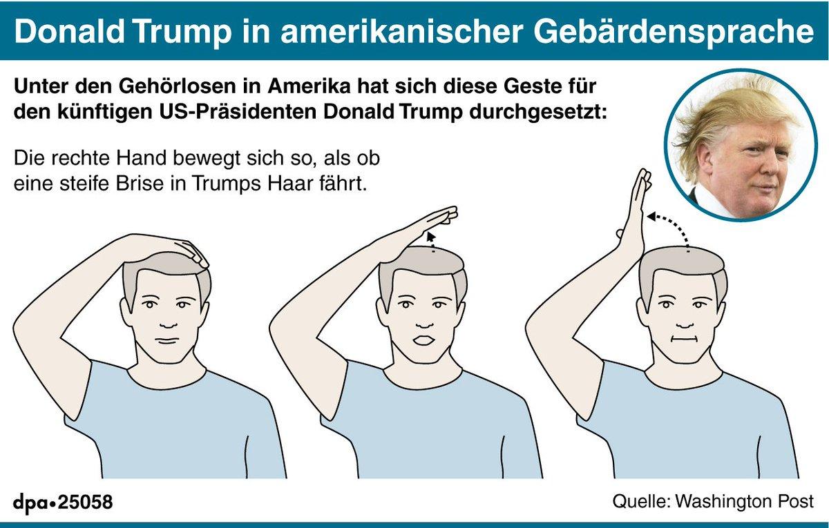 Gebärdensprache Trump