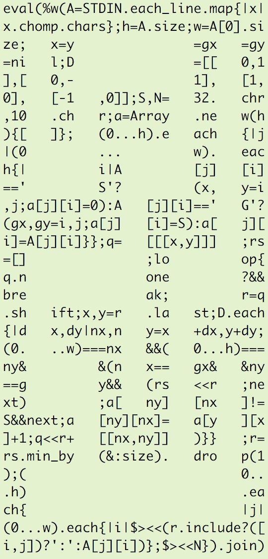 #matrk08 プロコン、なんか迷路のプログラムを書く?っていう話だったのでこういうのを送っておきました https://t.co/O5bSobiNaj