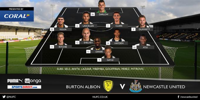 Burton Albion - Newcastle United 1:2 Cz4gIeQWgAIkhT2