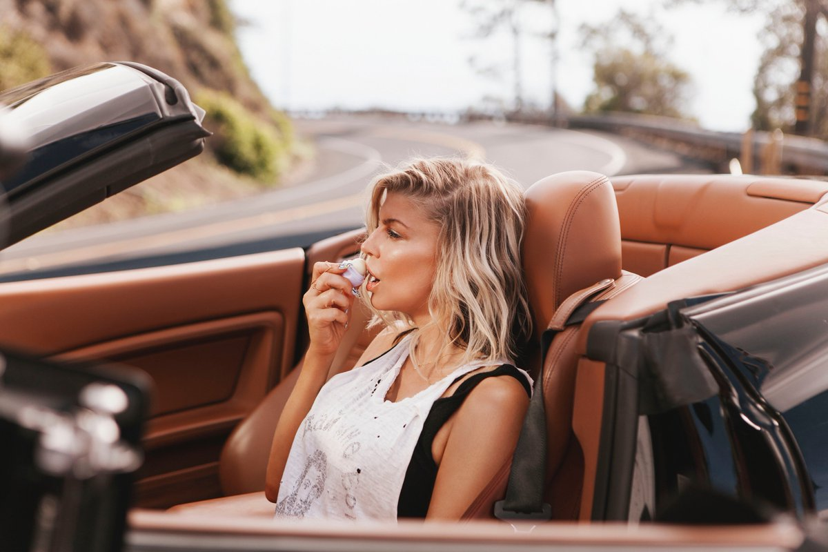 Thank u @eos for keeping my lips soft while driving down the californi...
