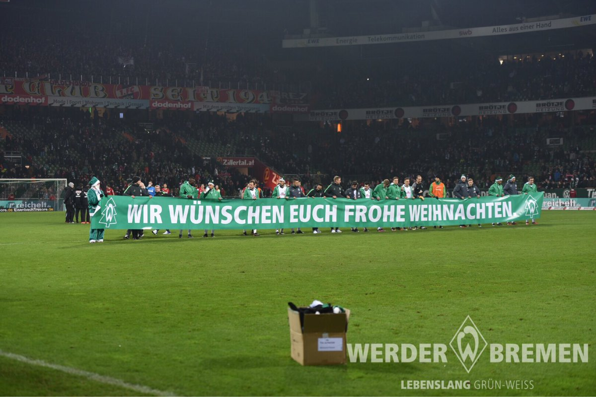 Frohe Weihnachten Werder Bremen.Sv Werder Bremen On Twitter Wir Sehen Uns Im Neuen Jahr