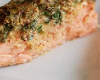 Salmon with Herbed Mustard