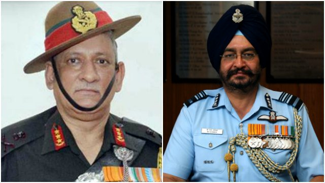 Lt Gen Rawat to be next army chief, Marshal Dhanoa to head IAF