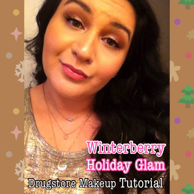 Frosted Winterberry Holiday Glam: Dreaming of a PINK Xmas: Drugstore Makeup Tutorial