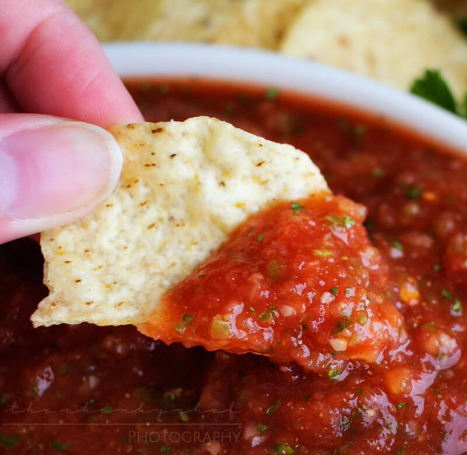 5 Minute Restaurant Salsa from @The_Chunky_Chef