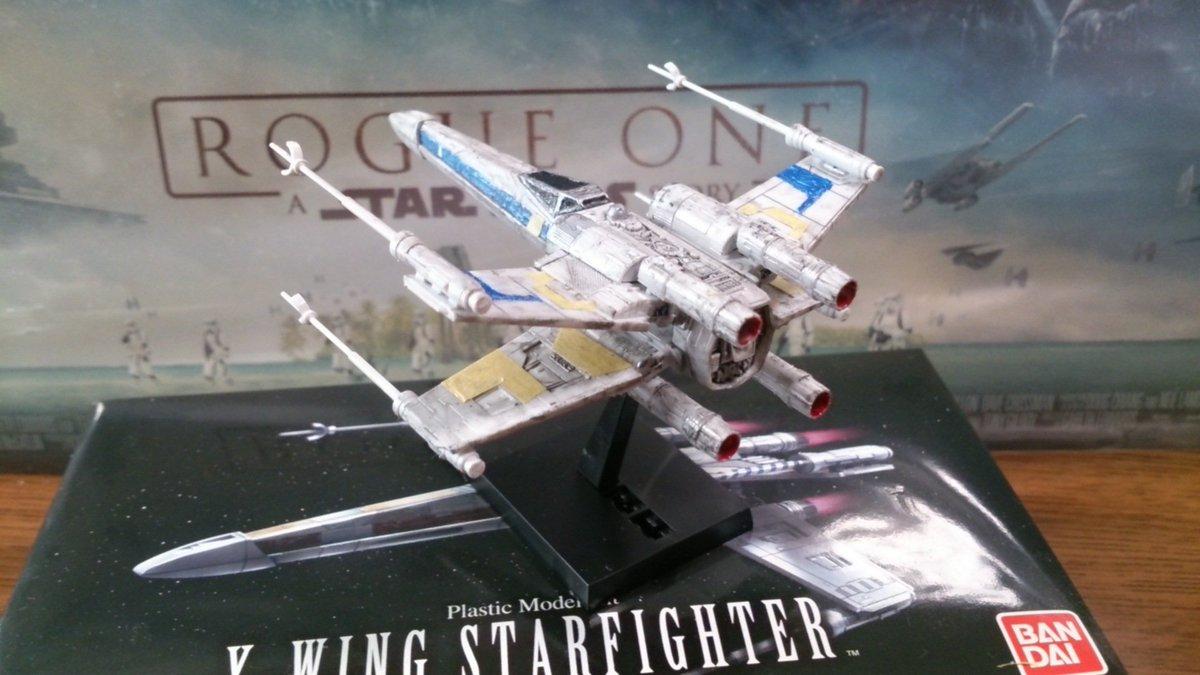 バンダイ ビークルモデル: Xウイングスターファイター(ブルー中隊/スカリフの戦い) T,65B X,wing Starfighter(Blue Squadron/Battle of Scarif) ゴキオモ 俺X