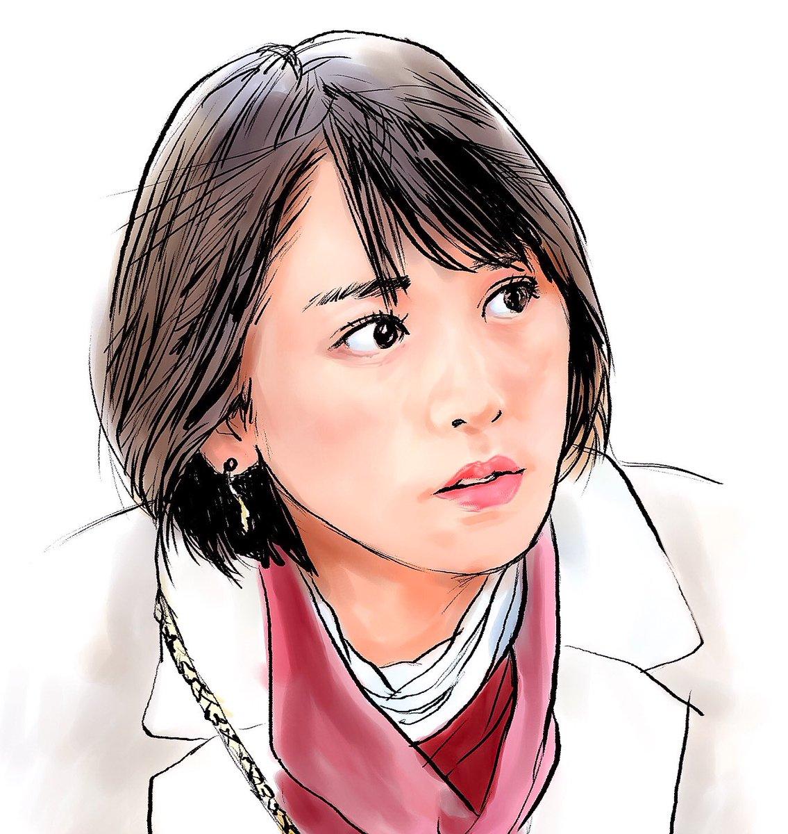 てらりん On Twitter 新垣結衣さん 似顔絵 イラスト