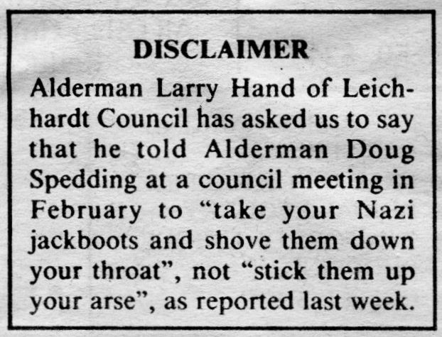 Still my favourite ever newspaper apology, Eastern Herald 12 Sep 1991 #auspol #nswpol https://t.co/Y18CHh11vM