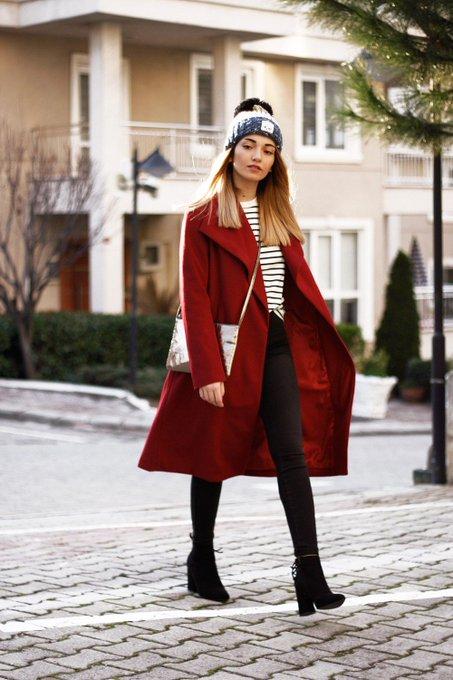 Wine Red Coat