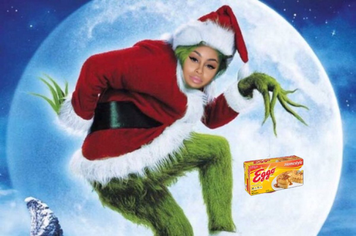IG Luis Alonso108 On Twitter Blac Chyna As The Grinch Everybody Watch Out