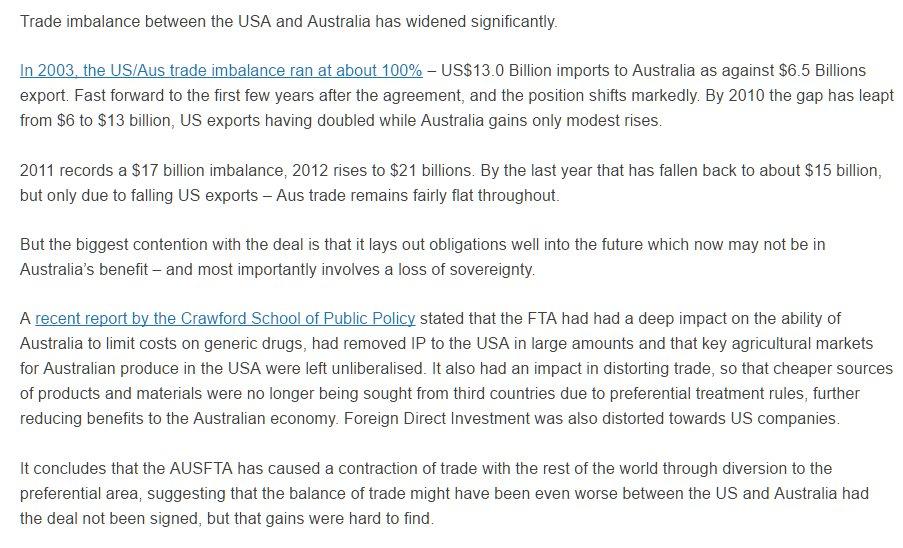 I Am Incorrigible On Twitter No Wonder Australias Free Trade