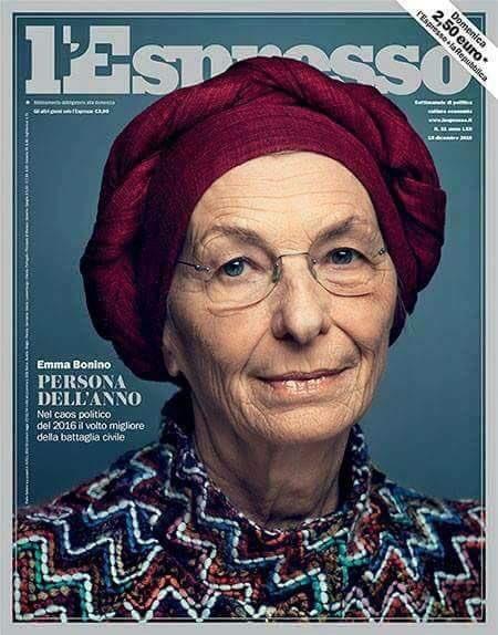 Emma Bonino persona dell'anno. In lotta contro la malattia, rappresenta perfettamente la storia di tante donne. https://t.co/RtUnwmnTfv