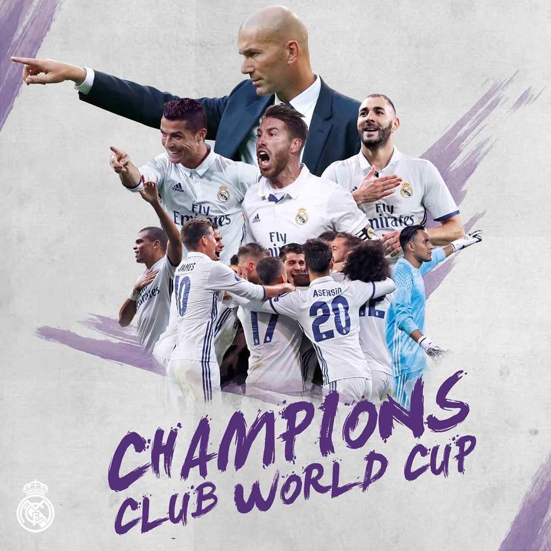 """هاتريك رونالدو يتوج ريال مدريد بطلًا لمونديال الأندية """"بطل العالم"""" . قدها وقدود ومايليق لهم الا الذهب"""