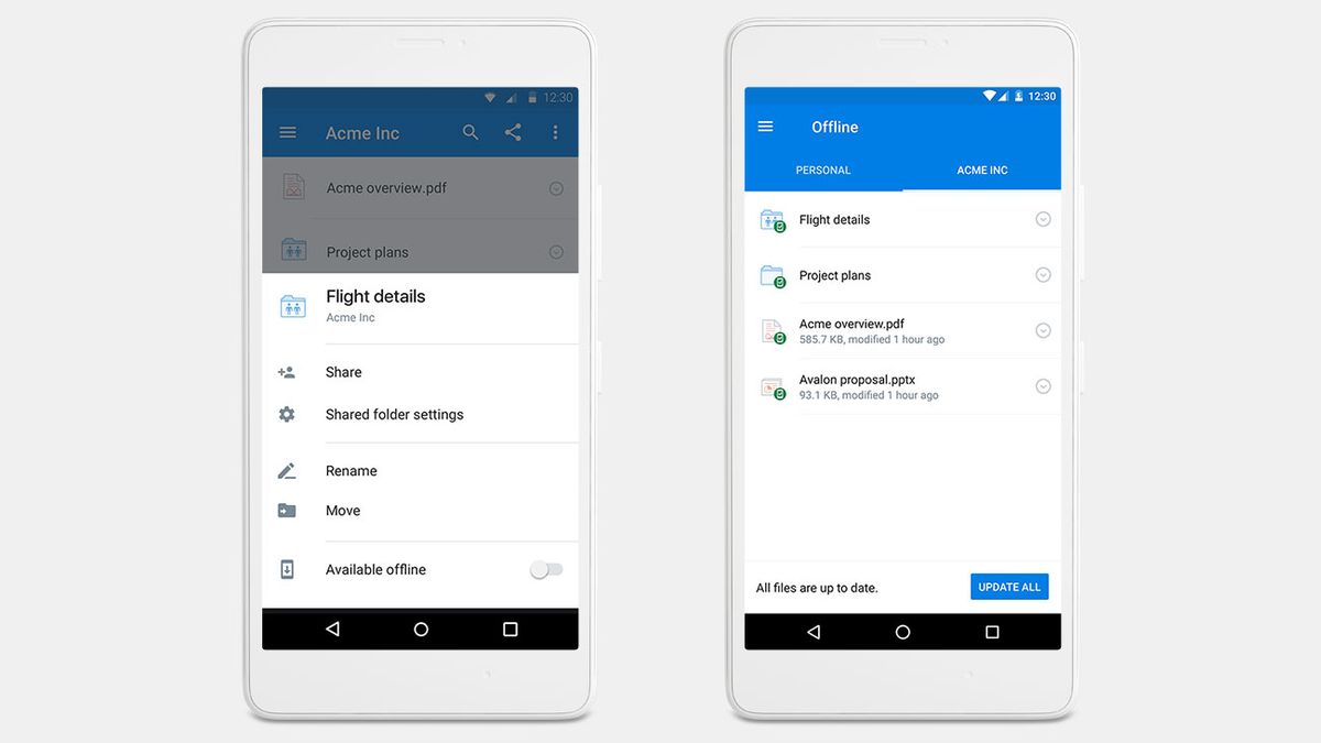 Dropbox Pro and Business users can now save entire folders for offline viewing