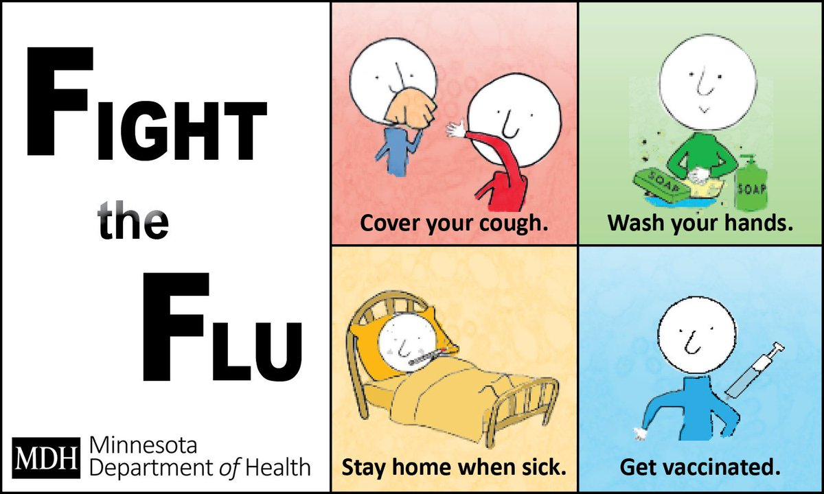 T5: To fight the flu: Cover your cough. Wash your hands. Stay home when sick. Get vaccinated. #FluChat https://t.co/tBth0Tvax1