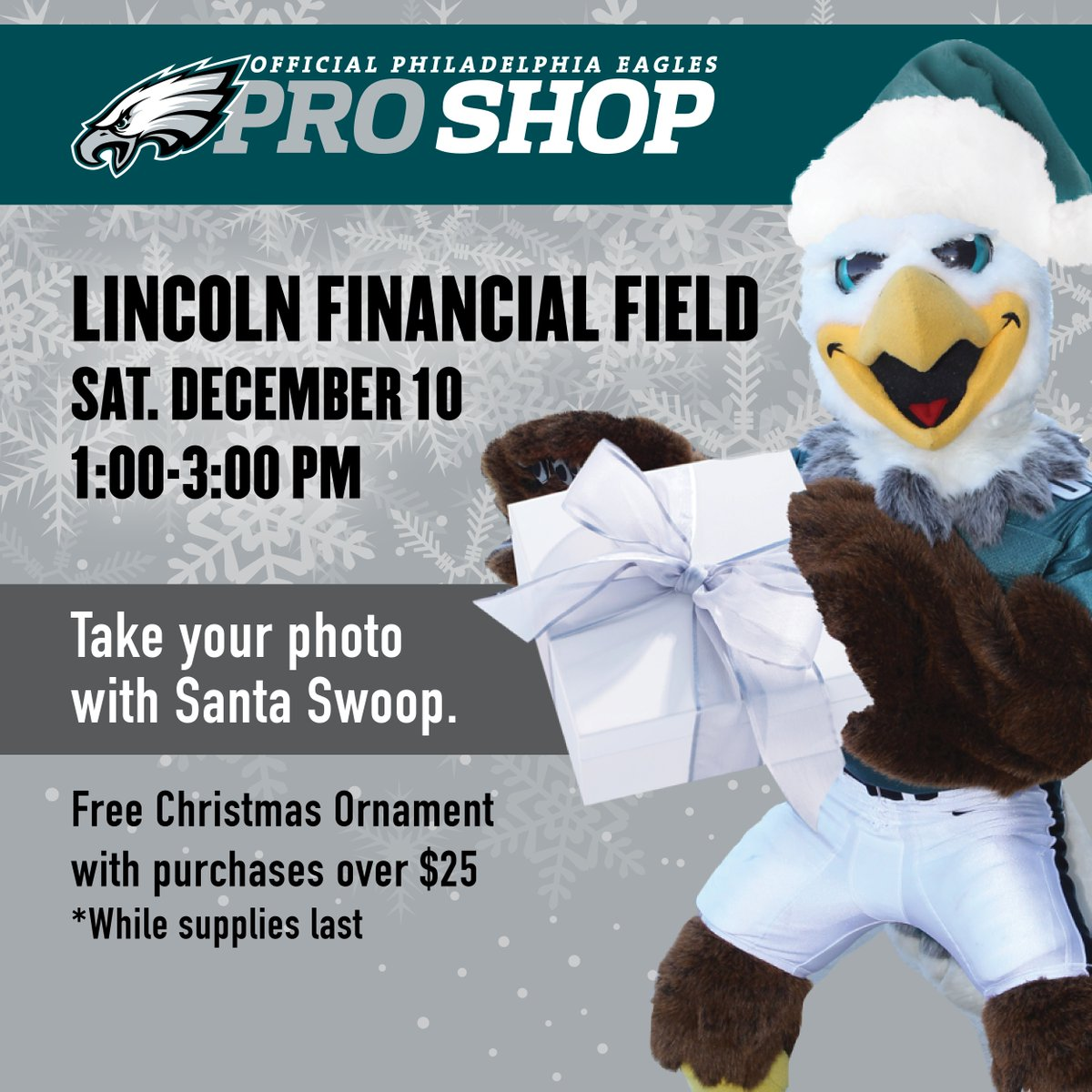 Eagles Pro Shop On Twitter The Holidays Are Here Join Santa Swoop