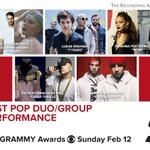 RT @RecordingAcad: Congrats Best Pop Duo/Group Per...