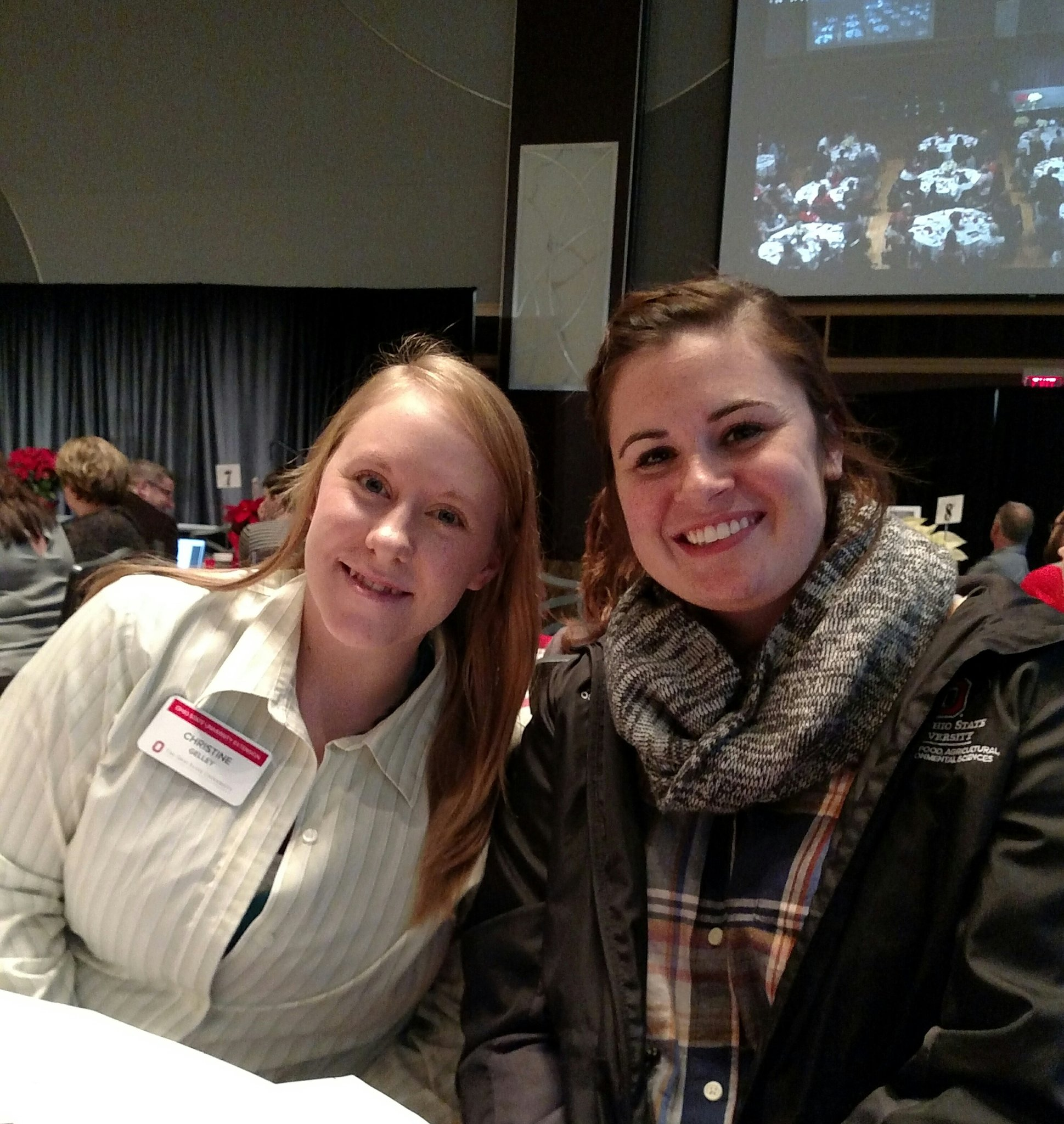 Extension Annual Conference first-timers.  Christine and @SamiJoSchott .  #osue2016 https://t.co/dGZUa2sVjs