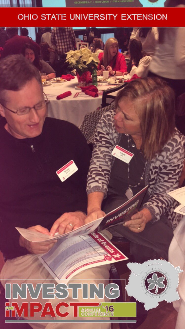 Susan Zies and Dan Ramley deep in thought ! #osue2016 https://t.co/VobQCDzrNG