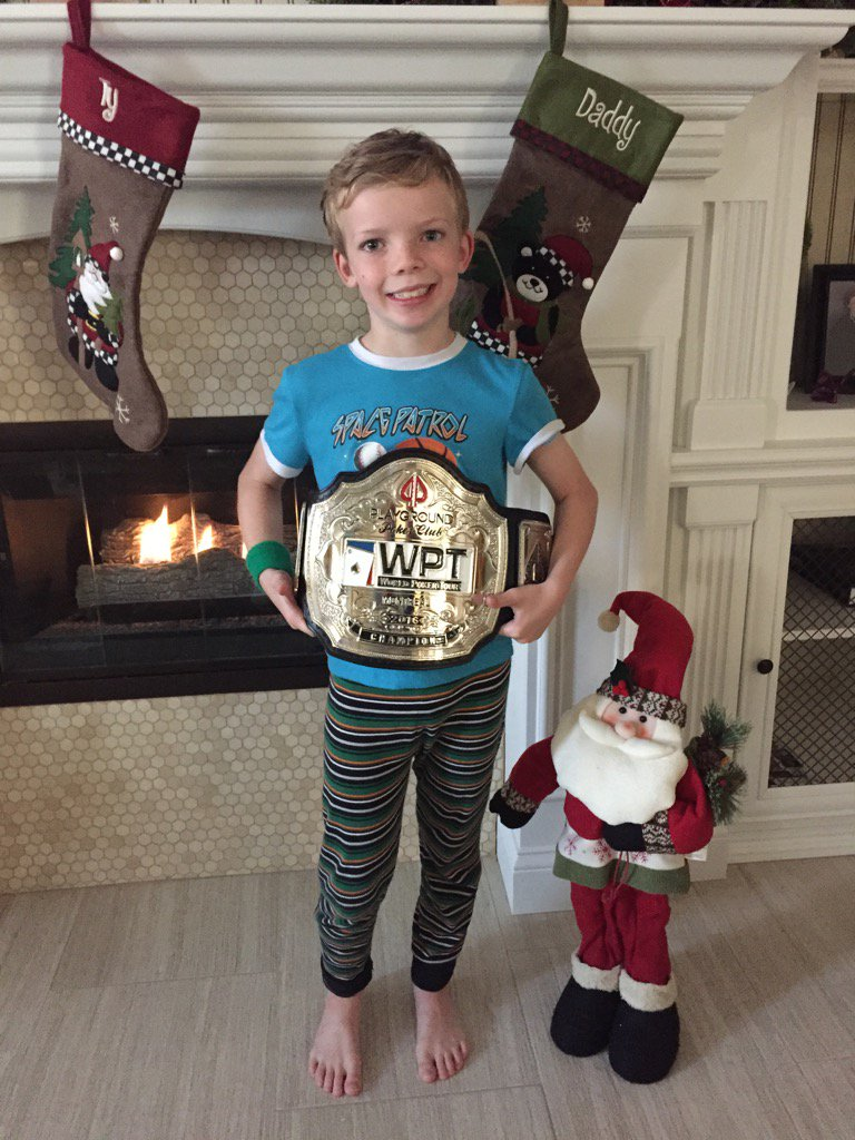 The best thing about winning WPTMontreal is that my son Ty gets the championship belt!  #soblessed https://t.co/Wzwwb6sjvd
