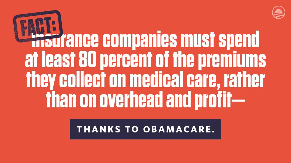 Since this requirement went into effect, insurance companies have refunded more than $2.4 billion to Americans. https://t.co/WiyH0zt0UG