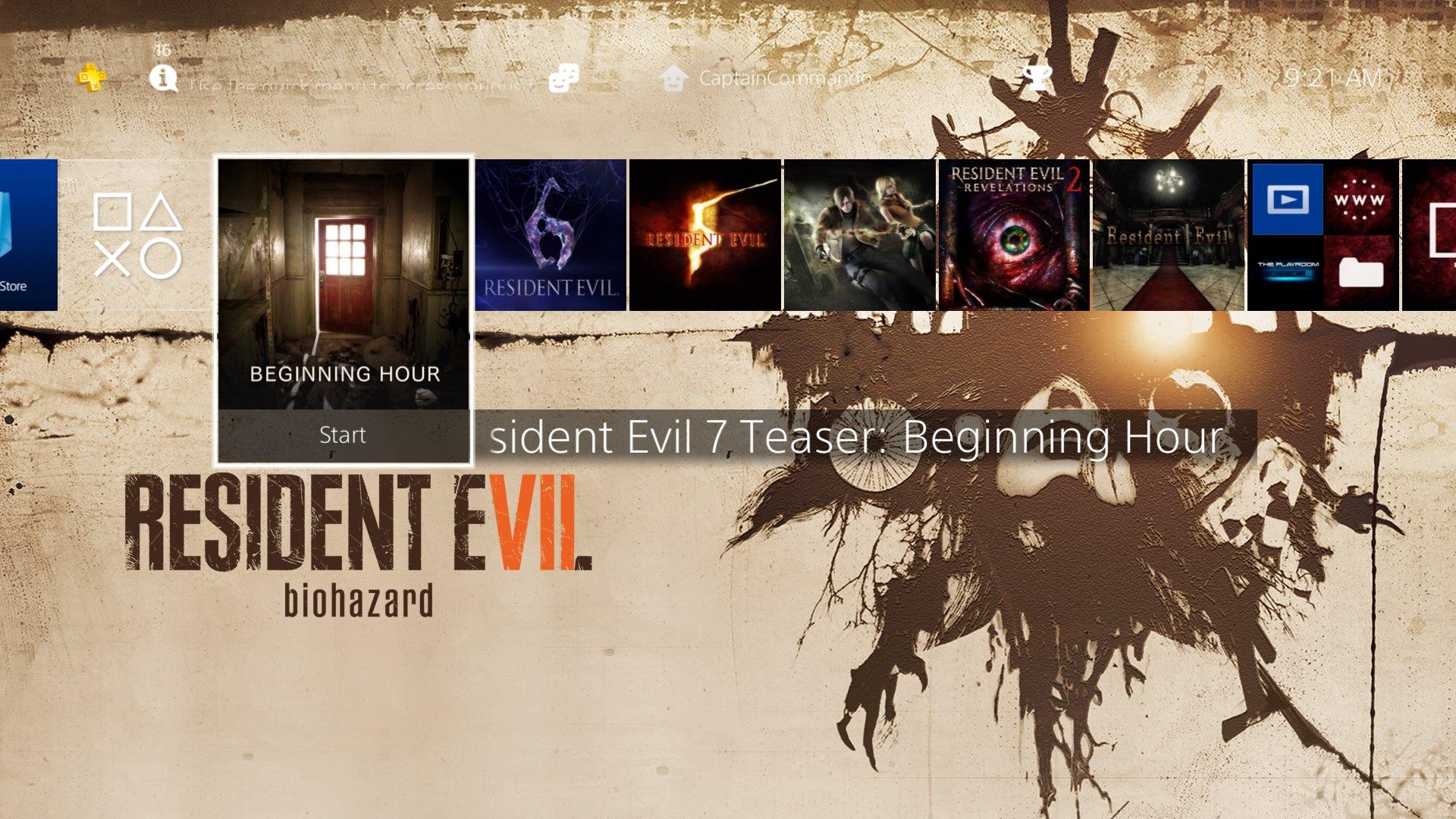 """Resident Evil on Twitter: """"Go tell Aunt Rhody - PS+"""