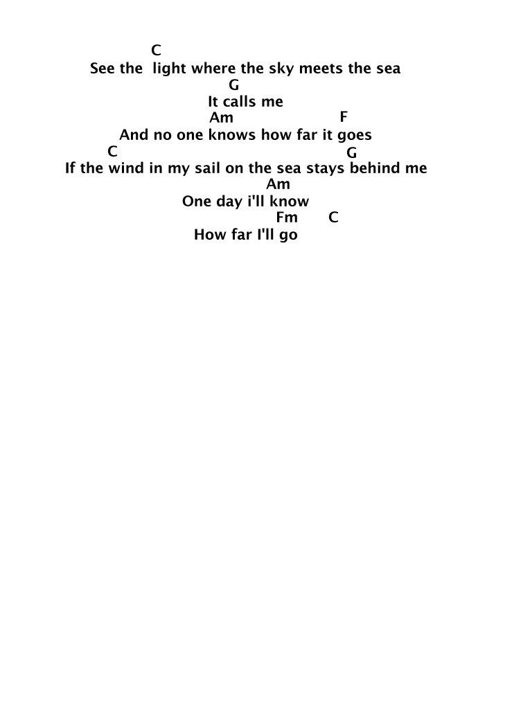 ladylauren on Twitter: u0026quot;How Far Iu0026#39;ll go Lyrics + Chords for Ukulele from Disneyu0026#39;s Moana!! ud83dudc9c# ...