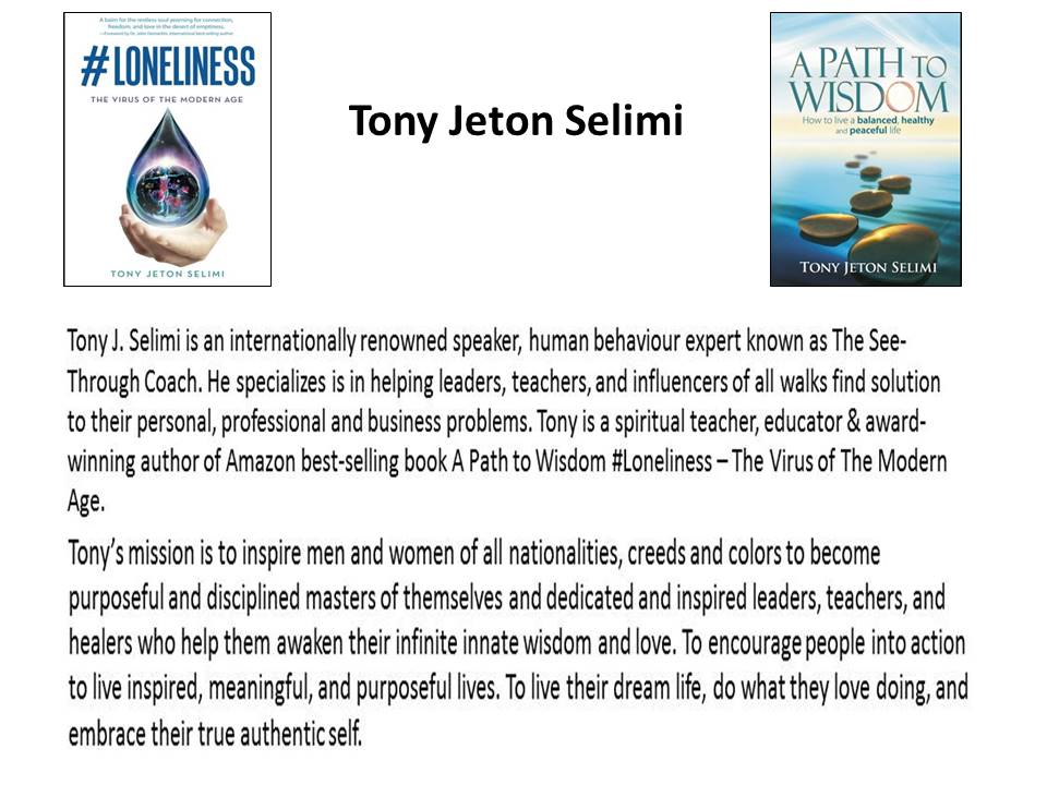 a path to wisdom written by tony j selimi designing your life book Jennifer Quamina