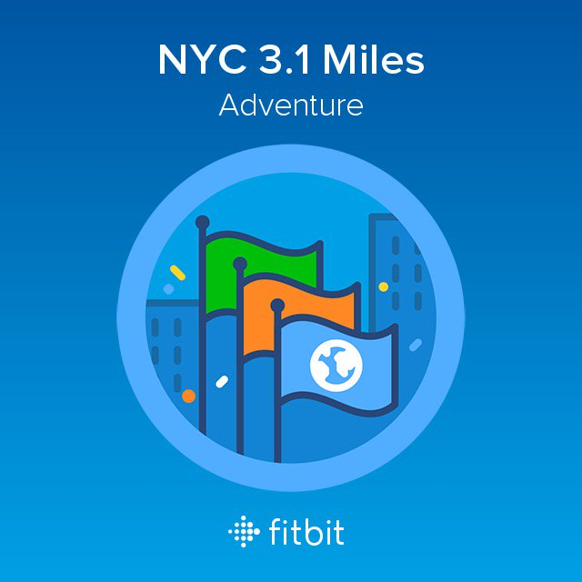 I did a Fitbit Adventure with #AbbottDash5k and earned the NYC 3.1 Miles badge! #MarathonFit