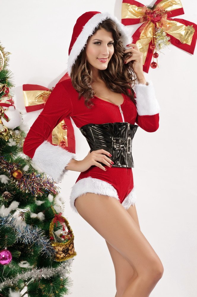Sexy women in christmas outfits #12