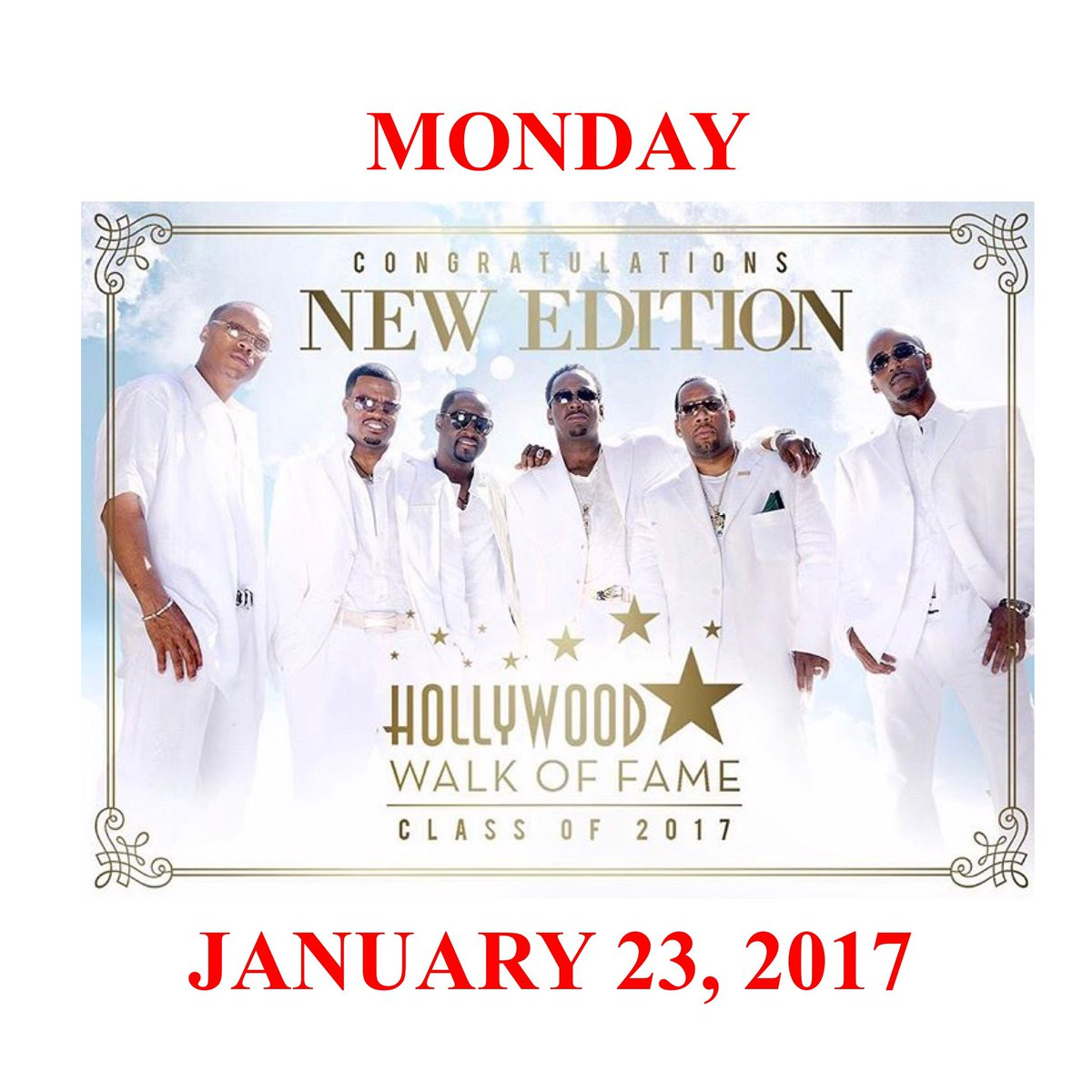 """THE DATE IS NOW OFFICIAL""  New Edition - Hollywood Walk of Fame Star Ceremony https://t.co/pMxcrqdvn6 https://t.co/wpnPyFk1Xh"