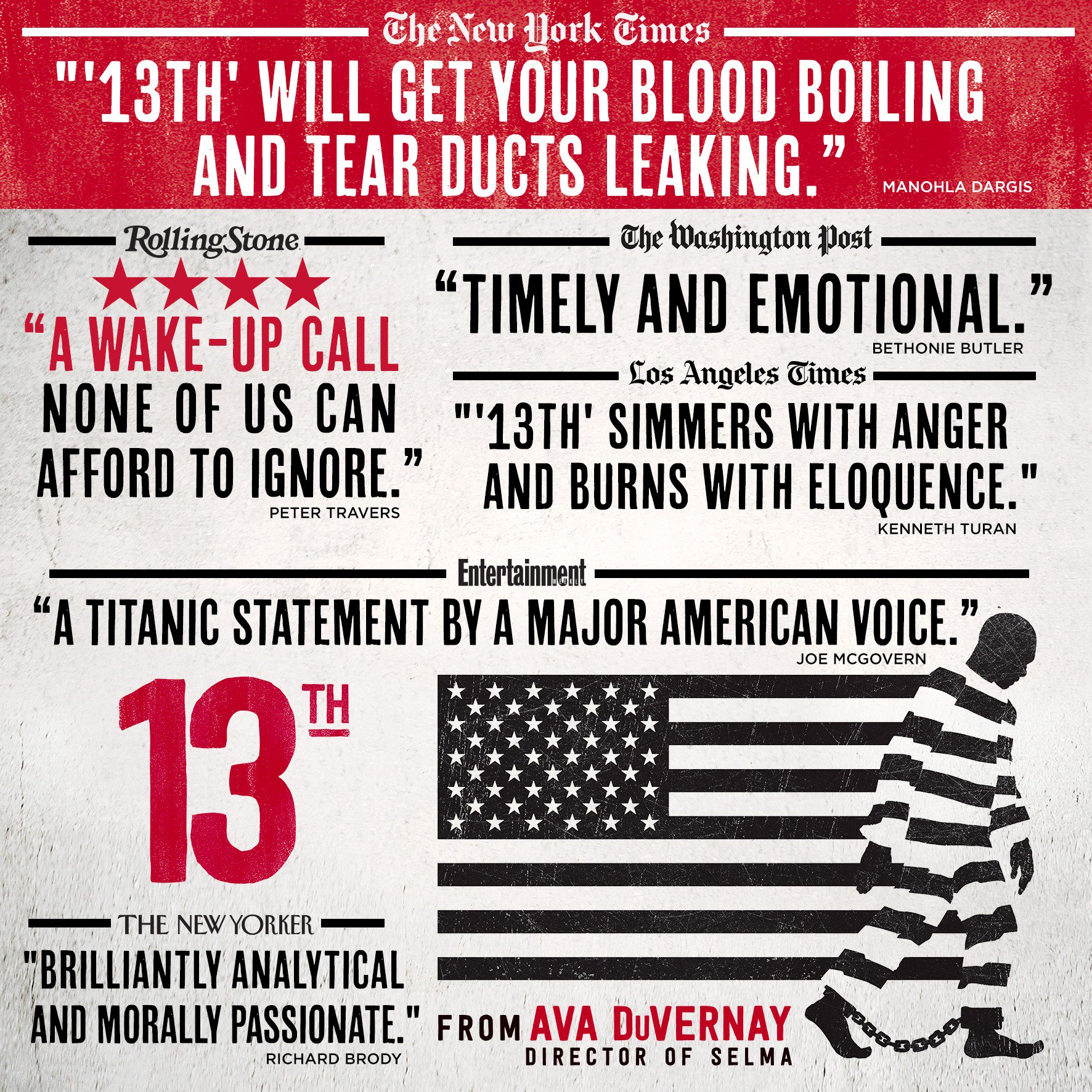 RT @13THFilm: Proud to announce @Ava's #13TH is on the Academy Awards Short List for Best Documentary Feature. https://t.co/aImZUw6QM1