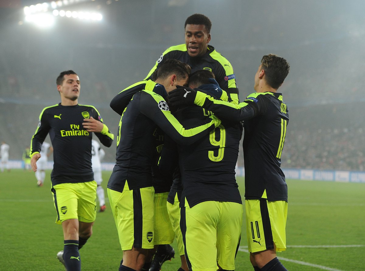 Basel 0-2 Arsenal – Our boys are looking really good (HT)