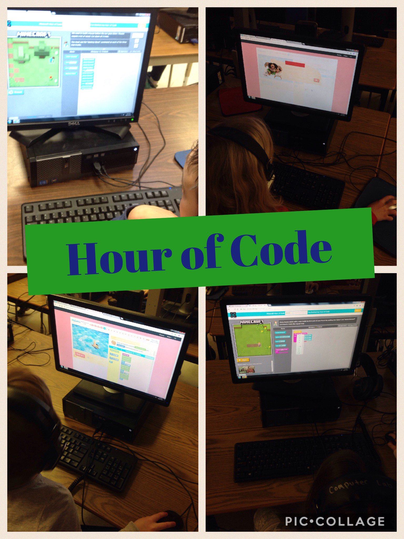 Grade 1/2 Ss participating in #HourofCode #TLDSBcode @tldsb #tldsblearns #minecraft and #Moana were favs! https://t.co/bgJxp9z5jf