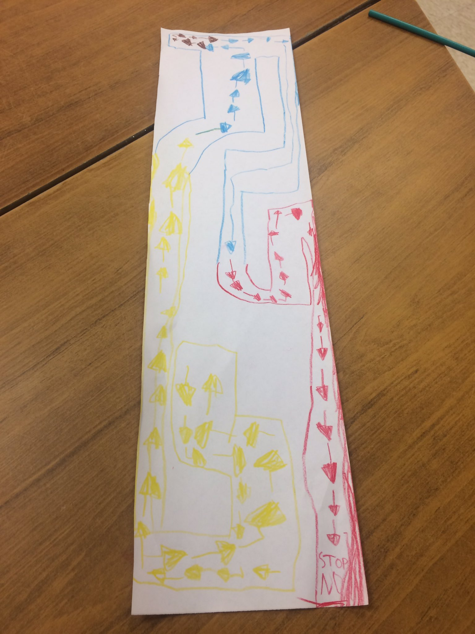 This is a map that a kindergarten student @vkgreerps made for cars he was using. That is creative and innovative #tldsblearns https://t.co/k1BZlEhsV5