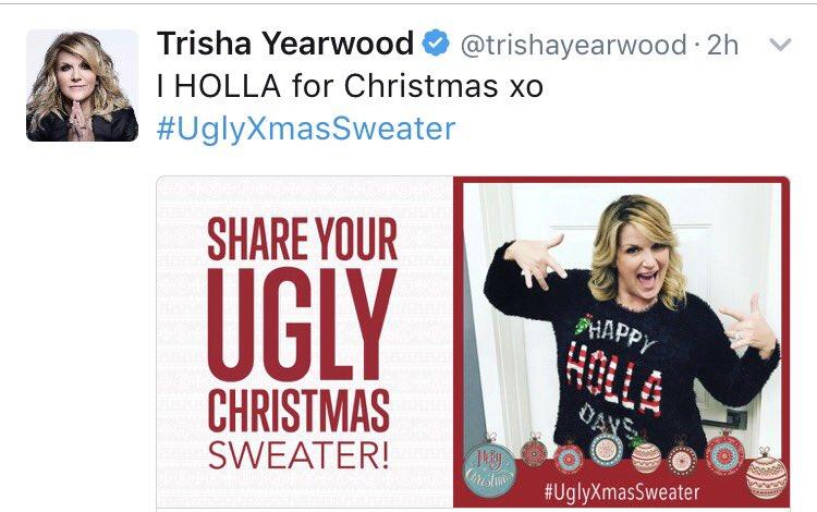 Garth Brooks On Twitter My Beautiful Girl In An Uglyxmassweater