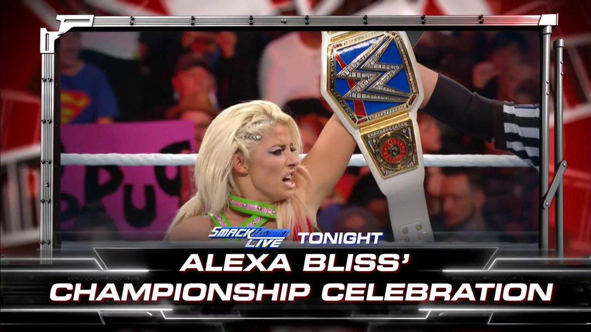 Your BRAND NEW #SDLive #WomensChampion @AlexaBliss_WWE will host a celebration, TONIGHT!