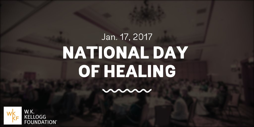 We want to shift the energy in this country. That's why we're announcing a #NationalDayOfHealing. Save the date! #TRHT https://t.co/mq5puvkXpk