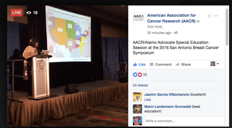 Thanks @AACR! Almost feels like am w/all at #SABCS16 #BCSM. Learned lots from Dr Olopade of @UChicagoMed re COMMUNITY ENGAGEMENT-inspired! https://t.co/MaJOkGi2Q5