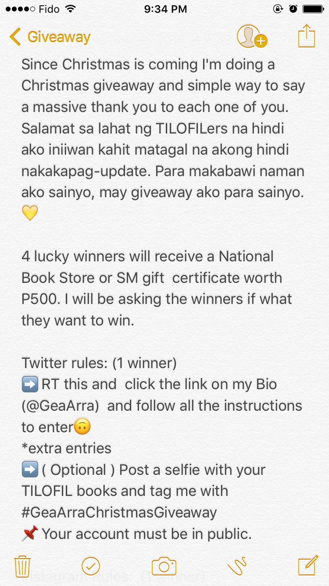 Kristine ballesteros tinekristine89 twitter enter to win nbs or sm gift certificate worth p500 to enter just click the link on my bio follow all the rules geaarrachristmasgiveawaypicitter xflitez Image collections