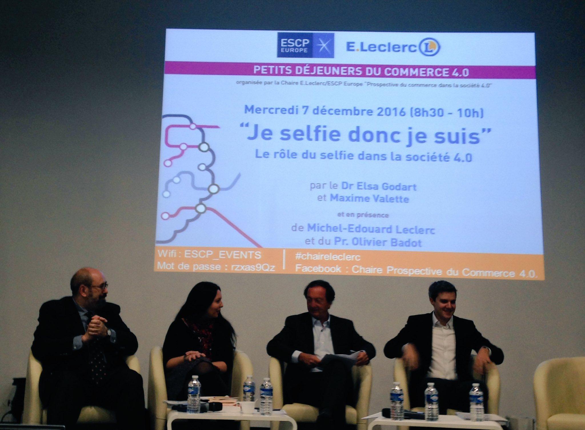 """Thumbnail for """"Je selfie donc je suis"""" - le 1er petit déjeuner de la Chaire E.Leclerc / ESCP Europe"""