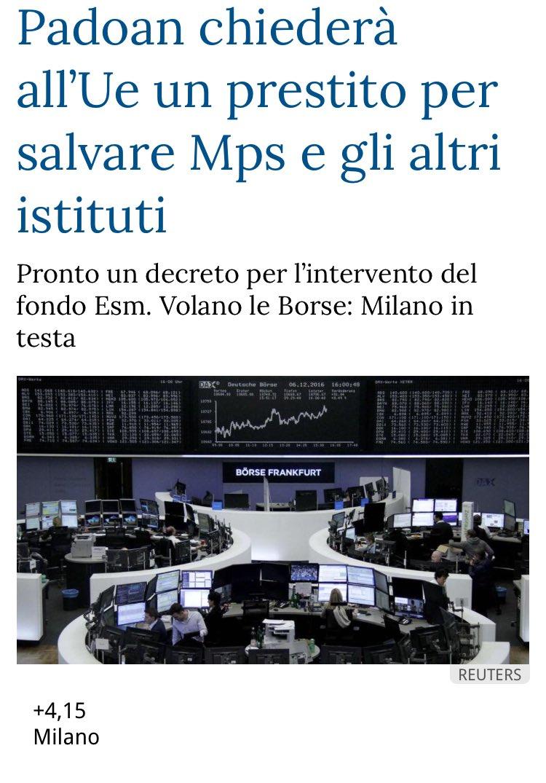 Antonio Bordin on Twitter: Ecco il piano: indebitarci con #ESM per ...