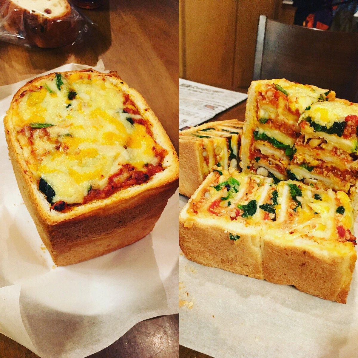 パン一斤使用してます。次回はホワイトソースを追加してチーズをもっとたっぷりと使用してつくるらしい\u2026。 まだ試作品。 俺の晩飯 ギャル曽根レシピ