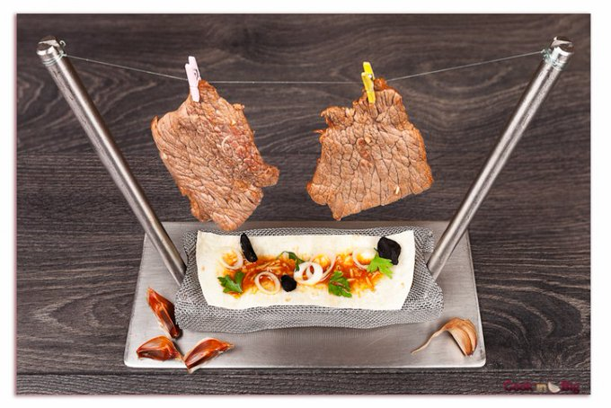 Recipe Marinated Tudanca Beef Rack with Castaño Garlic and Black Garlic