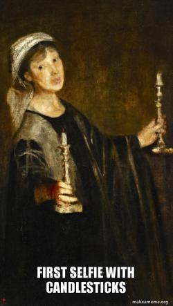 it's #Artmeme day! Lily-Delissa Joseph setting trends way back in 1906. Self-Portrait with Candles. Join in and use https://t.co/aqf47EI55G