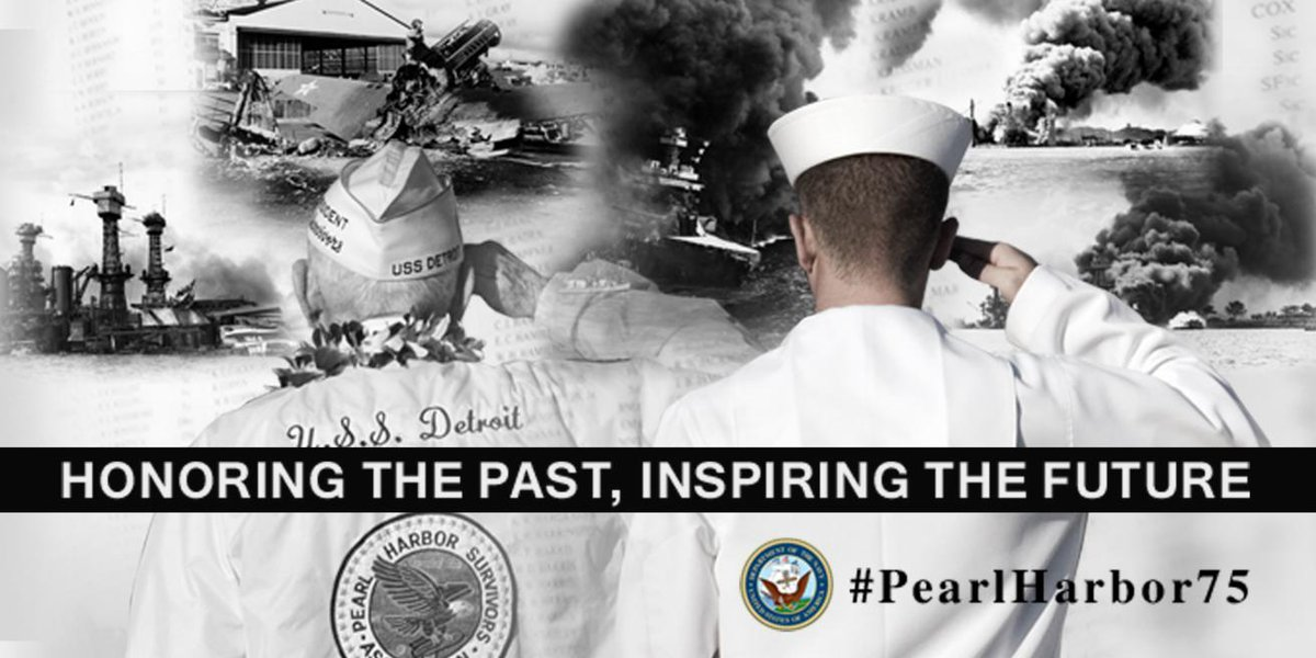 On this #PearlHarborRemembranceDay, retweet to salute our #USNavy #PearlHarbor75 Sailors' toughness, accountability, integrity & initiative.