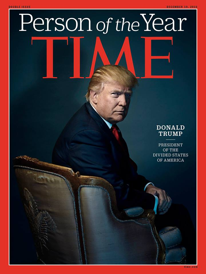President-elect Donald Trump is named TIME Magazine's 'Person of the Year' for 2016. #DonaldTrump