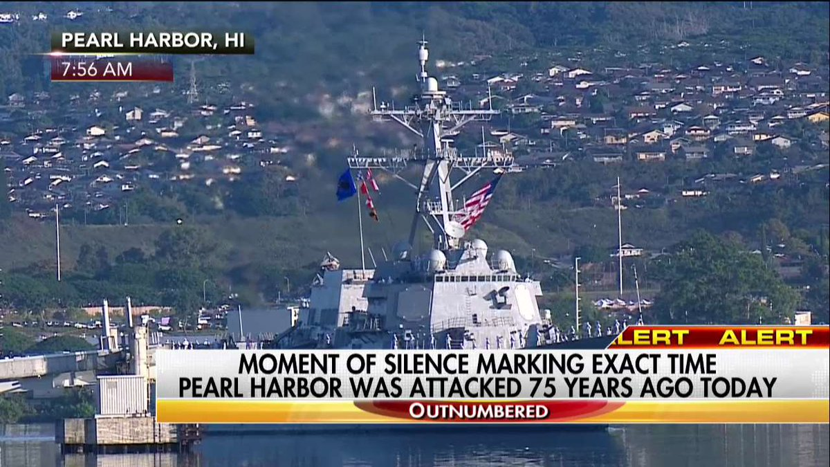 Moment of Silence marking exact time #PearlHarbor was attacked 75 years ago. #PearlHarborRemembranceDay
