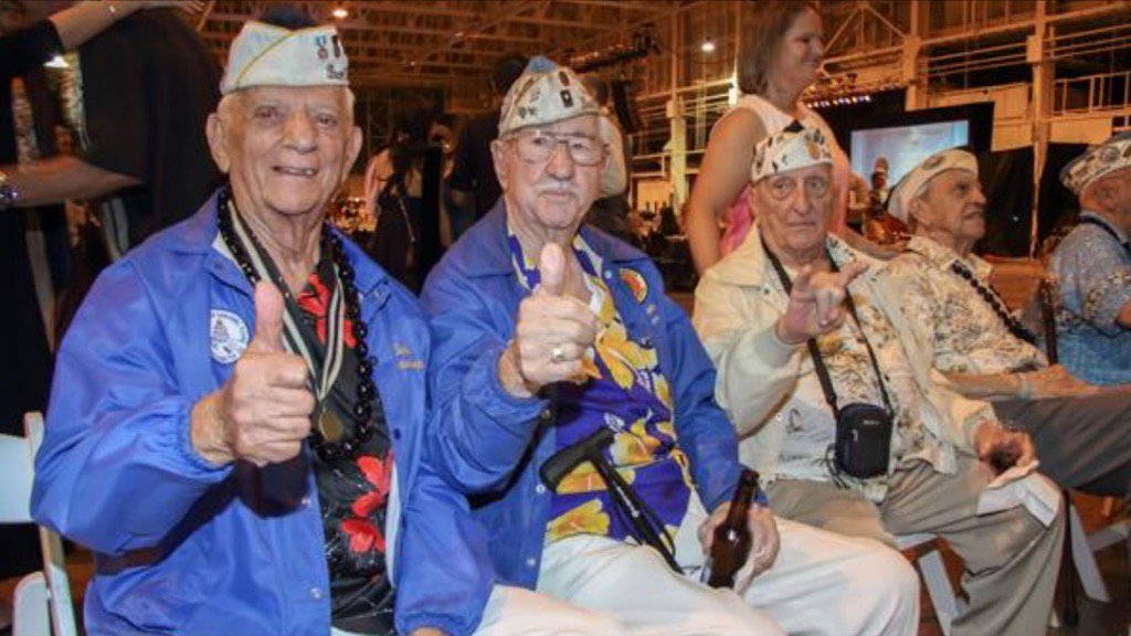 #PearlHarbor survivors being especially honored today, #PearlHarbor Remembrance Day, Dec. 7. #pearlharbor75 https://t.co/uLbXCUw08d