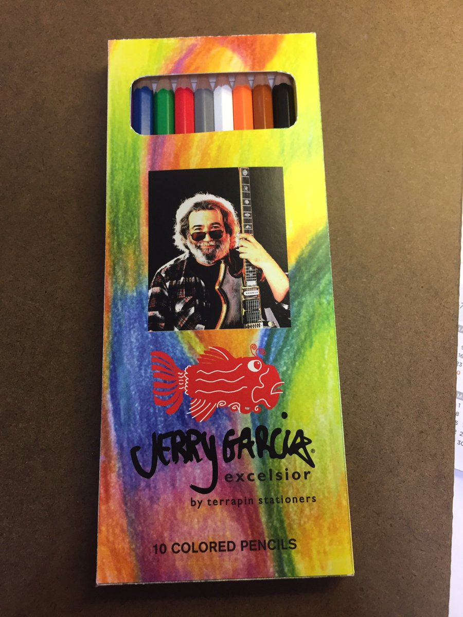 Now all we need to do is the finish the coloring book. #JerryGarciaExcelsiorCollection #2017 https://t.co/LEqFS7o8NC
